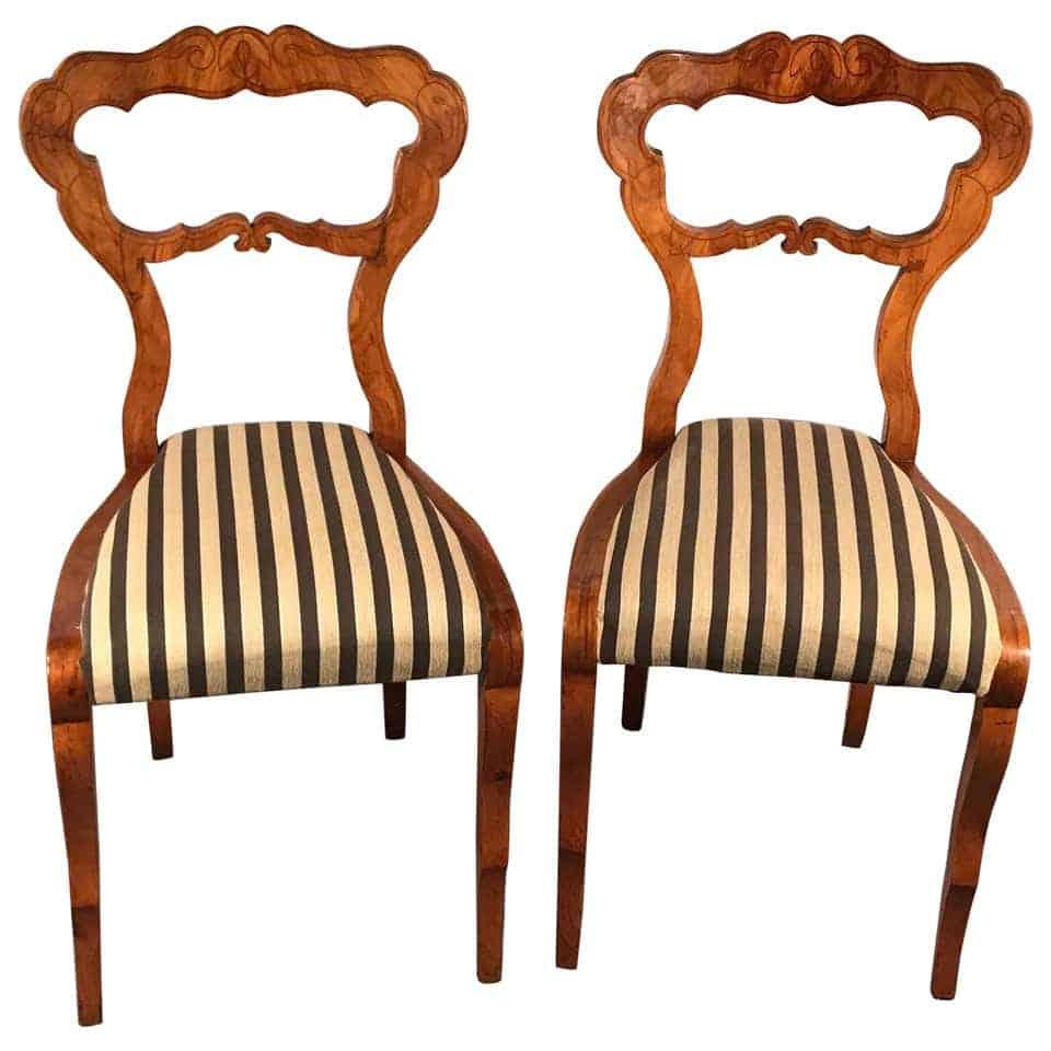 Pair of Biedermeier Chairs- 19th century- styylish