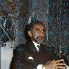RARE Print: Emperor Haile Selassie I Of Ethiopia And President At The UN