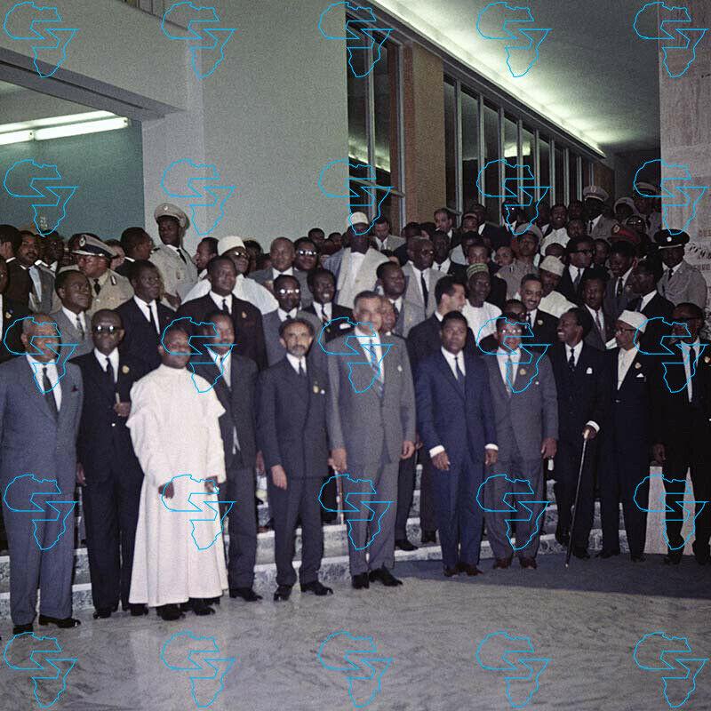 RARE Print: Emperor Haile Selassie I & Leaders of the Organisation of the OAU
