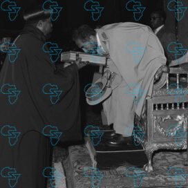 RARE Print: HIM Haile Selassie kisses the Holy Bible during the annual ceremony