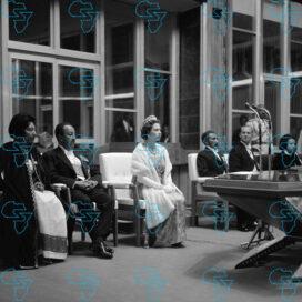 RARE Print: HIM Haile Selassie I, Queen Elizabeth II and Prince Philip