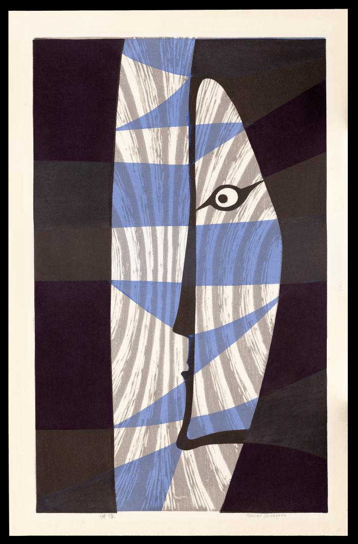 Kabuki Actor, a sosaku hanga woodblock print by Takumi Shinagawa (1908-2009), 1953; $2,000.