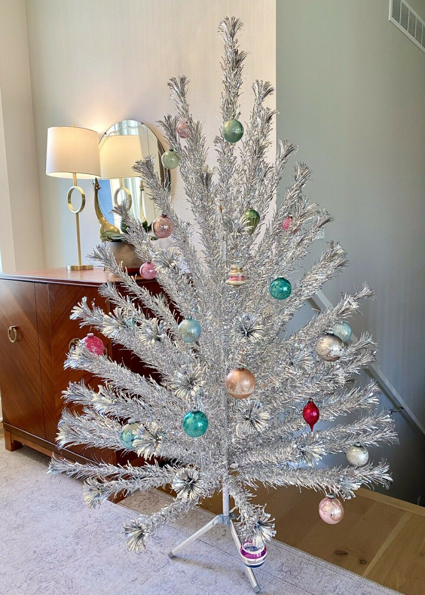 Aluminum Trees Are Yuletide Cool