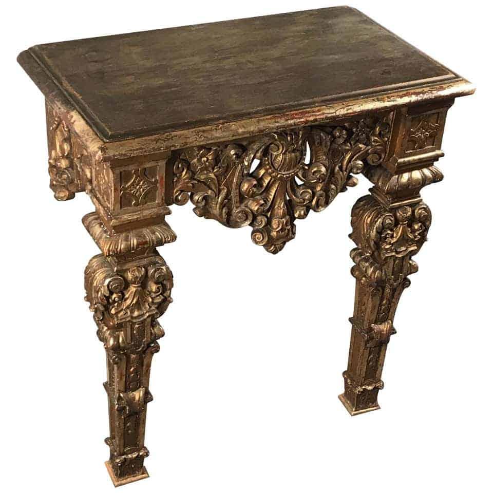 Giltwood Console Table- 18th century- styylish