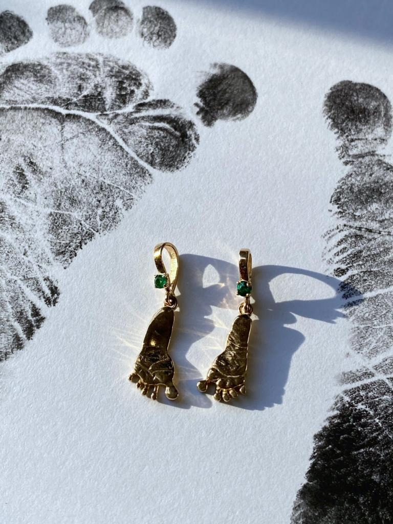 Custom Newborn Footprint Gold Charm from Bling Advisor – Gem Gossip – Jewelry Blog