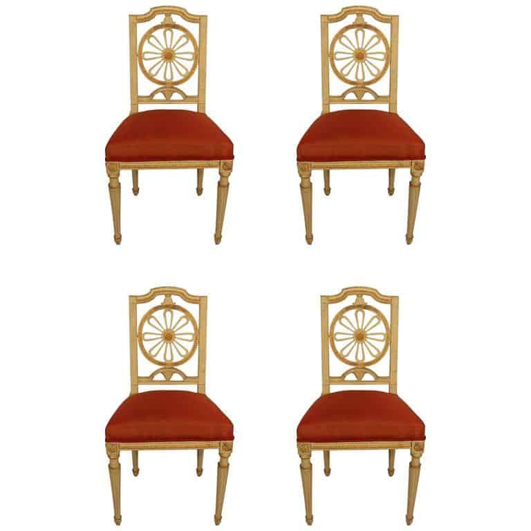 Four Gustavian Chairs- 19th century- styylish