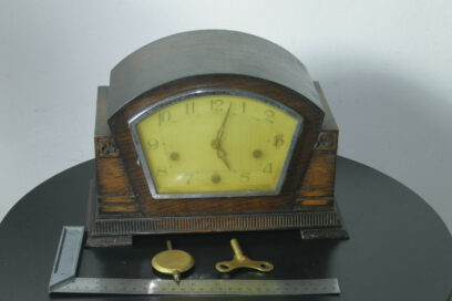 FULLY FUNCTIONING ART DECO ENFIELD WESTMINSTER CHIME MANTLE CLOCK