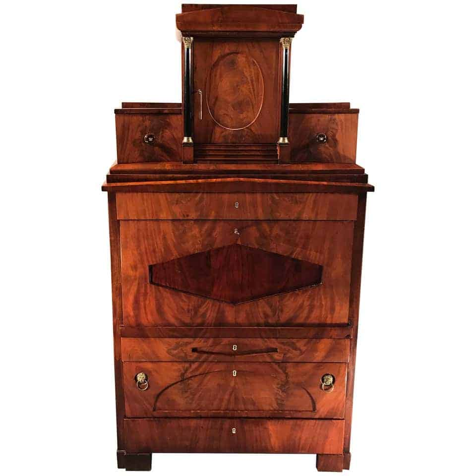Biedermeier Drop Front Secretaire- 19th century- styylish