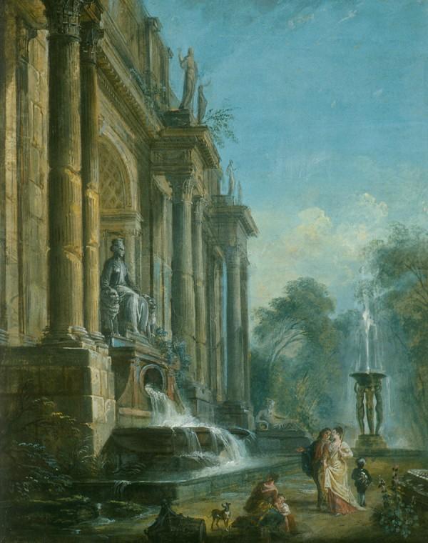 Jean-Baptiste Lallemand 1716-1803- antique ruins
