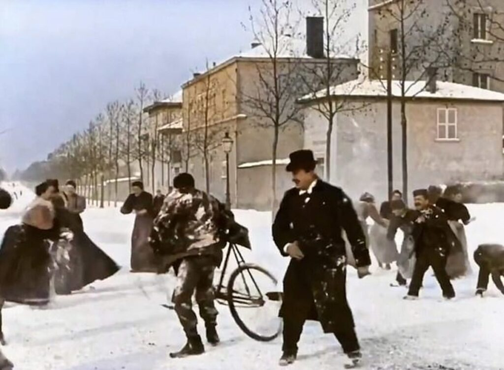 Snowball Fight From 1896 is Joyful Mayhem