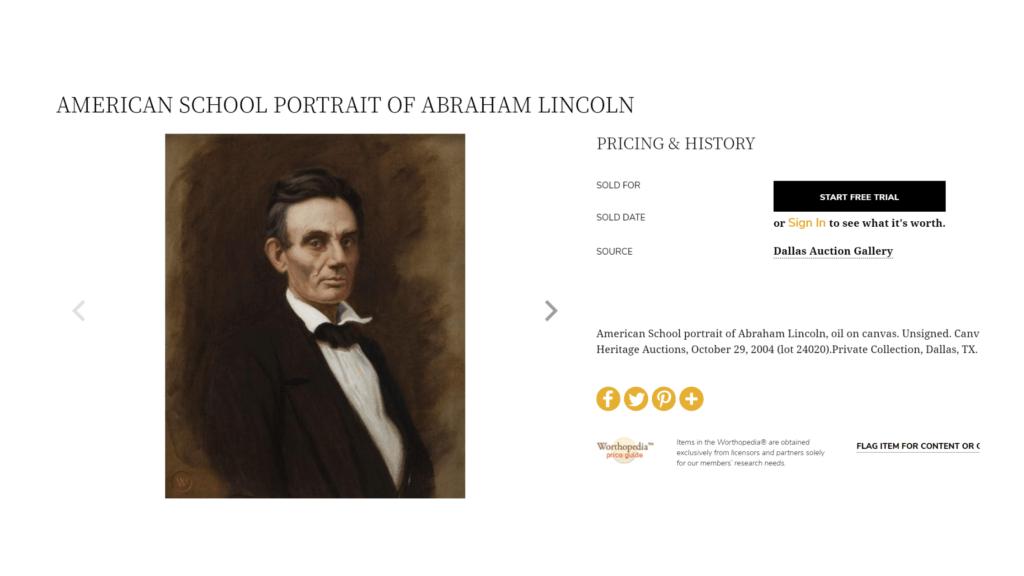 American school portrait of abraham lincoln