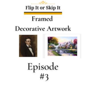 Flip It Or Skip It – Framed Decorative Artwork