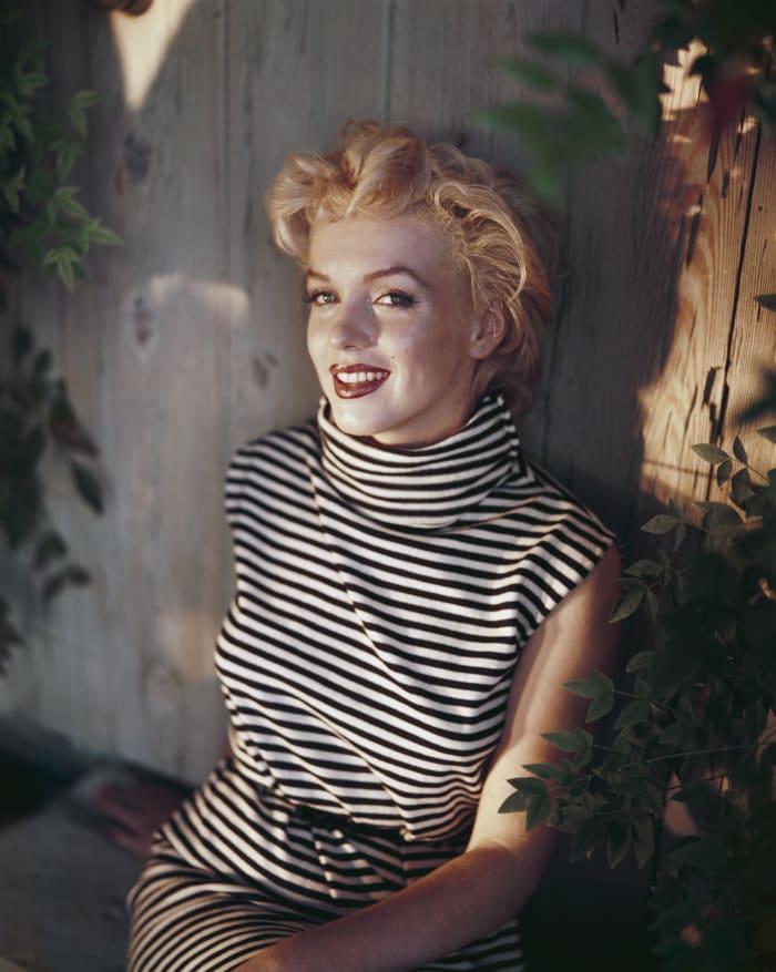 A radiant Marilyn Monroe in 1954.
