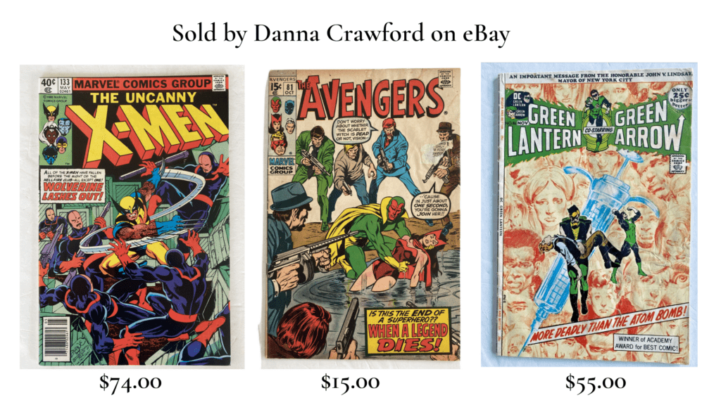Comic books sold by danna crawford