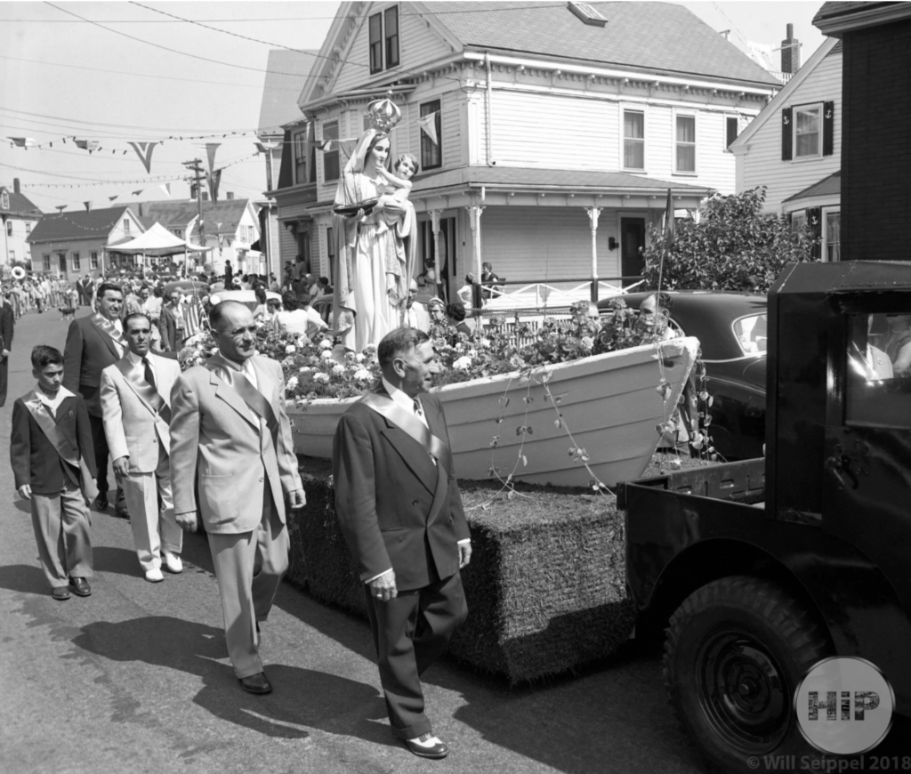 Procession of the blessing of the fleet parade in gloucester, massachusetts 1940s
