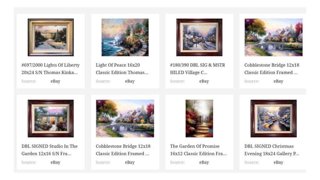 Thomas kinkaid paintings
