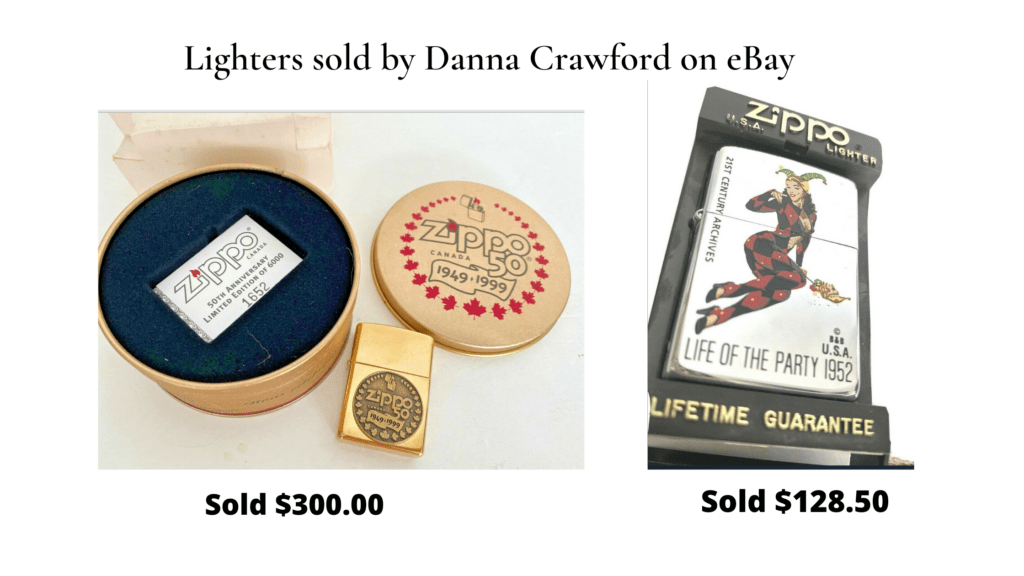 Lighters sold by danna crawford