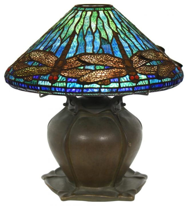 Fontaine's Auction sold several Tiffany Studios lamps at their Fine & Decorative Arts sale, January 23, 2021