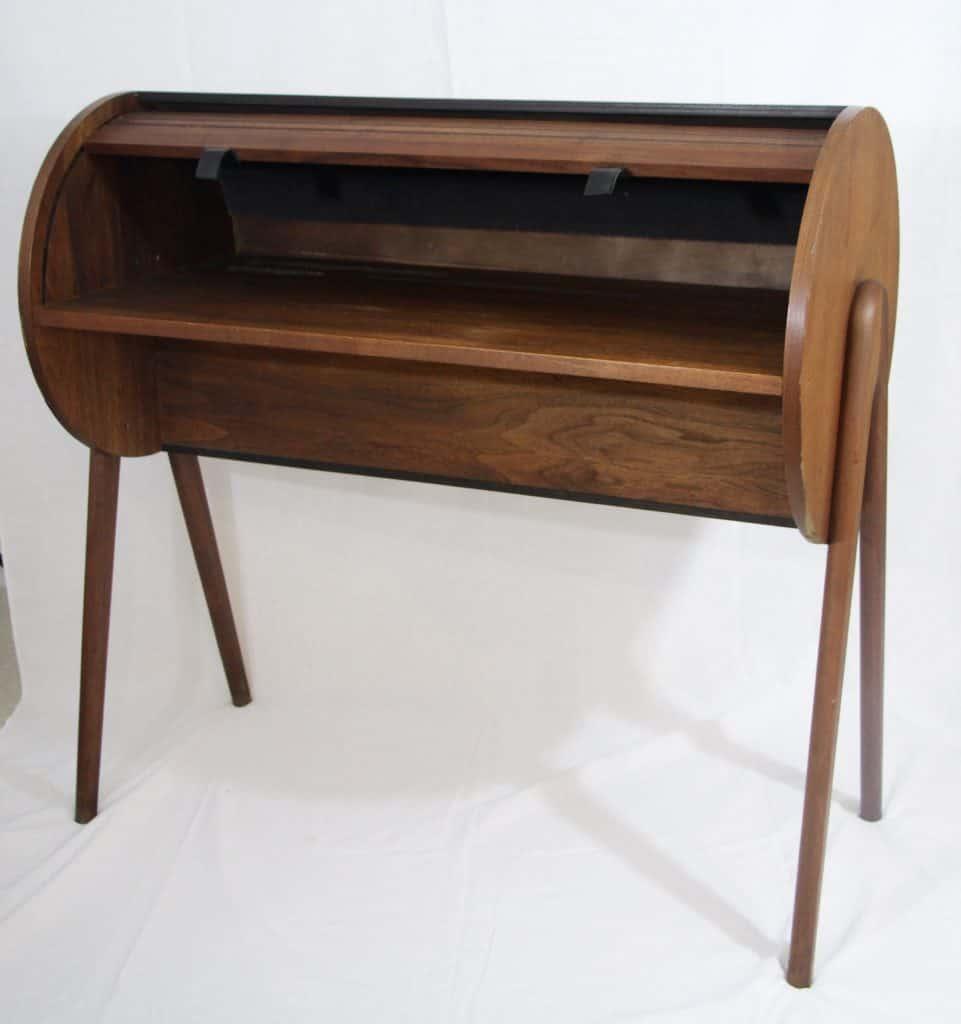 Mid Century Modern Rolltop Desk- front- styylish